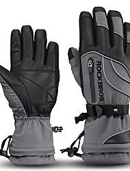 preiswerte -ROCKBROS Vollfinger Unisex Motorrad-Handschuhe Leder / Stoff Wasserdicht / warm halten / Rutschfest