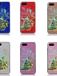 Недорогие -Кейс для Назначение Huawei Honor View 10(Honor V10) / Honor 9 Lite Покрытие / Сияние и блеск Кейс на заднюю панель Фламинго Твердый ПК для