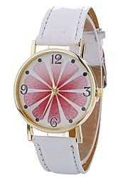 cheap -Xu™ Women's Dress Watch Wrist Watch Quartz Creative Casual Watch Lovely PU Band Analog Flower Fashion Black / White / Blue - Green Blue Pink One Year Battery Life / Large Dial