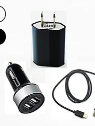 Недорогие -Автомобильное зарядное устройство Зарядное устройство USB Стандарт США / USB с кабелем / Несколько разъемов / QC 3.0 2 USB порта 2.1 A 100~240 V / DC 12V-24V для S9 / S9 Plus / S8 Plus