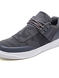 Недорогие -Муж. обувь Полотно / Полиуретан Осень Удобная обувь Кеды Черный / Темно-серый / Светло-серый
