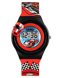 cheap -SKMEI Men's / Women's Wrist Watch / Digital Watch Chinese New Design / Lovely PU Band Fashion / Minimalist Red / Grey / Yellow