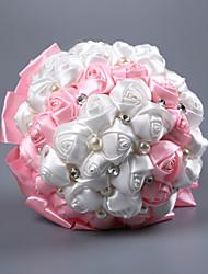 preiswerte -Hochzeitsblumen Sträuße Hochzeit / Hochzeitsfeier Perlen / Schaum / Satin 11-20 cm