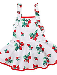 cheap -Baby Girls' Cherry Fruit Sleeveless Dress
