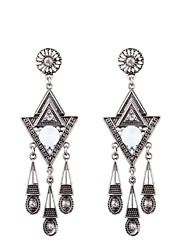 cheap -Women's Tassel Drop Earrings - Stylish, Classic Silver For Daily