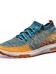 Недорогие -Муж. обувь Тюль Весна & осень Удобная обувь Спортивная обувь Беговая обувь Оранжевый / Темно-серый / Светло-серый
