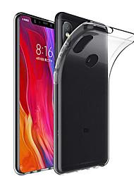 Недорогие -Кейс для Назначение Xiaomi Mi 8 / Mi 8 SE Прозрачный Кейс на заднюю панель Однотонный Мягкий ТПУ для Xiaomi Mi Mix 2 / Xiaomi Mi Mix 2S / Xiaomi Mi Mix / Xiaomi Mi 6