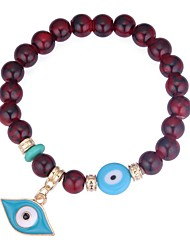 baratos -Mulheres Pulseiras Strand - Olhos Estiloso Pulseiras Preto / Vermelho / Azul Para Cerimônia Aniversário