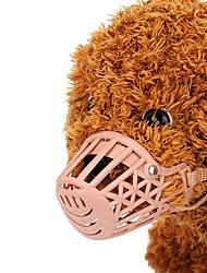 abordables -Perros / Gatos / Animales Pequeños de Pelo Bozales Entrenamiento Un Color Plásticos Rosa