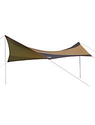 cheap -DesertFox® Shelter & Tarp / Camping Shelter Single Layered Poled Camping Tent Outdoor Waterproof, Rain-Proof, Sunscreen for Camping / Hiking / Fishing / Climbing 2000-3000 mm Oxford 550*560 cm
