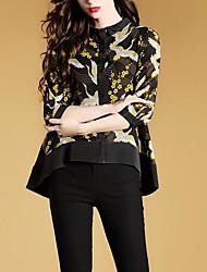 cheap -women's shirt - geometric round neck