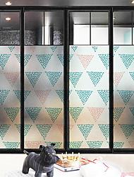 Недорогие -Оконная пленка и наклейки Украшение Геометрия Геометрический принт ПВХ Новый дизайн