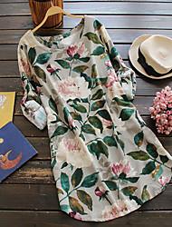abordables -Femme Rétro Courte Robe Fleur Au dessus du genou