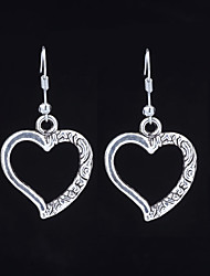 cheap -Women's Rivet Drop Earrings - Heart Casual / Sporty, Korean, Renaissance Black / Silver For Gift / Going out