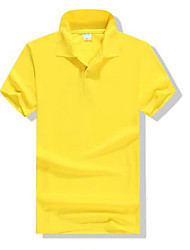 cheap -Men's Cotton Polo - Solid Colored Shirt Collar / Short Sleeve