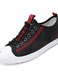 cheap -Men's Canvas Summer Comfort Sneakers Color Block Red / Black / Red / Black / Yellow