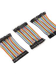 Недорогие -120pcs 10cm 40pin самец к женщине / 40pin самец к мужчине / 40pin женщине к женскому макету перемычки проволоки ленту dupont кабель комплект