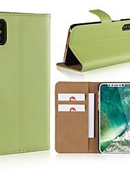 billiga -fodral Till Apple iPhone X / iPhone 8 Plånbok / Korthållare / Lucka Fodral Enfärgad Hårt PU läder för iPhone X / iPhone 8 Plus / iPhone 8