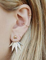 cheap -Women's Geometric Stud Earrings / Hoop Earrings - Leaf Vintage, Fashion Silver For Holiday / Bar