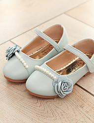abordables -Chica Zapatos Aterciopelado / PU Primavera verano Confort Bailarinas Paseo Perla de Imitación / Flor / Cinta Adhesiva para Niños Beige /