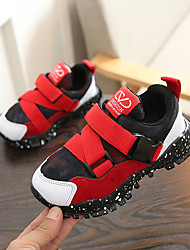 cheap -Boys' Shoes Mesh / PU(Polyurethane) Fall & Winter Comfort Athletic Shoes Walking Shoes for Teenager Black / Gray / Red
