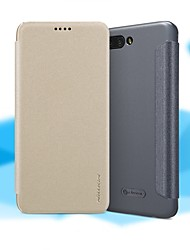 abordables -Coque Pour Huawei Honor 10 Clapet / Dépoli Coque Intégrale Couleur Pleine Dur faux cuir pour Huawei Honor 10