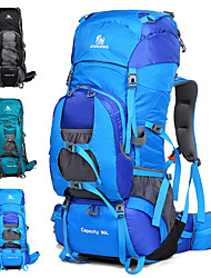 cheap -80 L Hiking Backpack / Rucksack - Reflective Trim Outdoor Camping, Travel Nylon Black, Sky Blue, Blue
