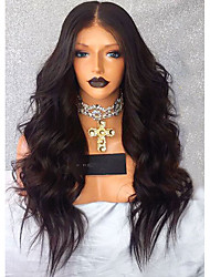 cheap -Synthetic Wig / Synthetic Lace Front Wig Wavy Middle Part Synthetic Hair With Baby Hair / Soft / Heat Resistant Black Wig Women's Long Lace Front Dark Brown / African American Wig / Yes