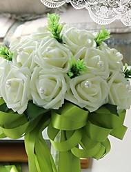 baratos -Flores artificiais 1 Ramo Clássico / Solteiro (L150 cm x C200 cm) Casamento Rosas Flor de Mesa
