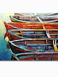 abordables -Pintura al óleo pintada a colgar Pintada a mano - Abstracto / Paisaje Contemporáneo / Modern Lona