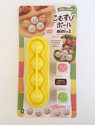 abordables -Herramientas de cocina Plásticos Nuevo diseño / Manualidades El moho de bricolaje Bolas de arroz 4pcs