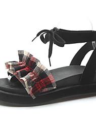 povoljno -Žene Cipele PU Proljeće ljeto Remen oko gležnja Sandale Creepersice Crvena / Plava