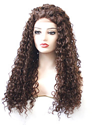 cheap -Synthetic Lace Front Wig Curly Layered Haircut 180% Density Synthetic Hair With Baby Hair / Heat Resistant / Elastic Brown Wig Women's Long Lace Front / Fashion / Yes