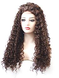 Недорогие -Синтетические кружевные передние парики Кудрявый Коричневый Стрижка каскад Темно-рыжий 180% Человека Плотность волос Искусственные волосы Жен. с детскими волосами / Жаропрочная / Эластичный Коричневый