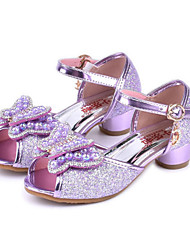 cheap -Boys' / Girls' Shoes PU(Polyurethane) Spring / Fall Flower Girl Shoes Sandals Bowknot / Beading / Buckle for Kids Purple / Blue / Pink / Peep Toe / Party & Evening