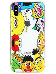 Недорогие -Кейс для Назначение Apple iPhone X Ультратонкий Кейс на заднюю панель Мультипликация Мягкий ТПУ для iPhone X / iPhone 8 Pluss / iPhone 8