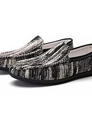 abordables -Homme Chaussures Toile / Lin Eté Moccasin / Chaussures de plongée Mocassins et Chaussons+D6148 Noir / Rouge / Bleu