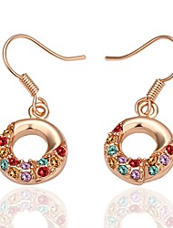 cheap -Women's Cubic Zirconia Drop Earrings - Rose Gold Plated Donuts Fashion Rose Gold For Gift / Daily