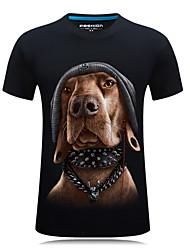 baratos -Homens Camiseta Moda de Rua Animal / Retrato