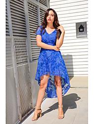 abordables -Mujer Vaina / Corte Swing Vestido - Espalda al Aire Asimétrico