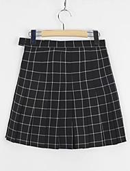 cheap -women's going out mini a line skirts - striped high waist