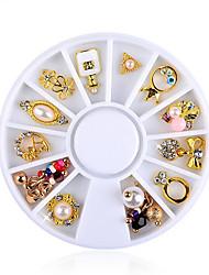 Недорогие -12 pcs Искусственные советы для ногтей Стразы для ногтей Модный дизайн маникюр Маникюр педикюр На каждый день Хрусталь / Стиль