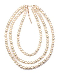 cheap -Women's Layered Necklace / Pearl Strands - Imitation Pearl Statement, Vintage, Fashion White 40+5 cm Necklace 1pc For Evening Party, Birthday