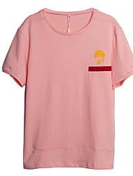 お買い得  -メンズTシャツ - 幾何学的なラウンドネック