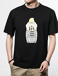 お買い得  -メンズTシャツ - 動物ラウンドネック