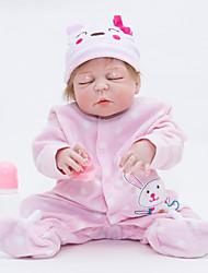 baratos -FeelWind Bonecas Reborn Bebês Meninas 22 polegada Silicone de corpo inteiro - realista de Criança Para Meninas Dom