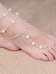 abordables -Perle Sandales Pieds Nus - Imitation de perle Balle Classique, Mode Or Pour Quotidien / Femme