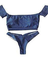 cheap -Women's Bikini - Check Cheeky