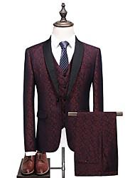 cheap -Men's Plus Size Suits-Print Notch Lapel / Long Sleeve