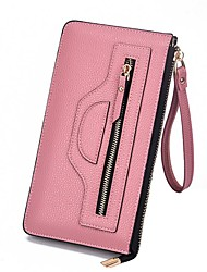 cheap -Women's Bags PU(Polyurethane) Wallet Zipper Purple / Coffee / Sky Blue